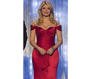 Scarlet siren: Holly Willoughby steals the show on 'DOI'