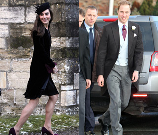 Wedding rehearsal for Kate and Wills at pal's nuptials