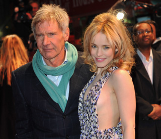 Stylish Harrison Ford joins Rachel McAdams in UK