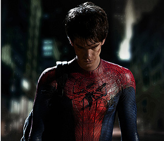 Spiderman's back: Andrew Garfield puts on iconic suit