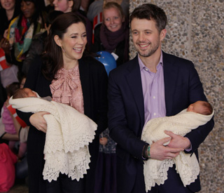 Mary and Frederik of Denmark head home with twins