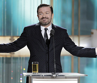 Globes host Ricky Gervais: I haven't been asked back