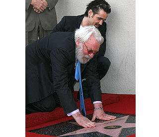 Donald Sutherland receives his star on Walk of Fame