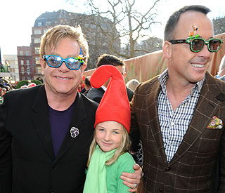 Elton John and partner reveal names son will call them