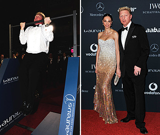 Boris Becker keeps his chin up on night out with Lilly