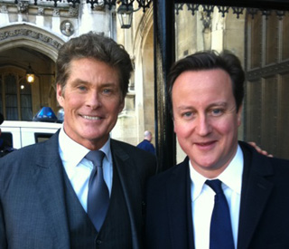 Are you Tony Blair?: The Hoff meets David Cameron
