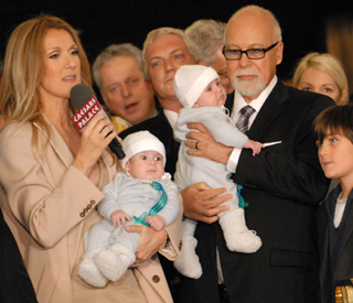 Celine Dion takes babies, four months, to work