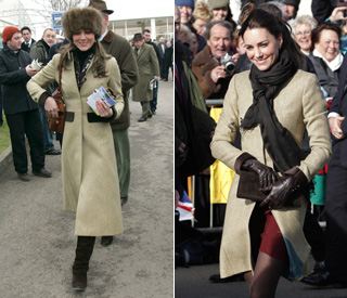 Thrifty Kate wears five-year-old coat for debut