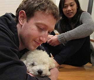 Mark Zuckerberg's new dog causes Facebook stir