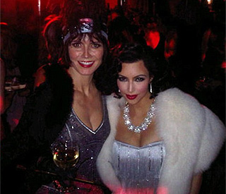 Kim Kardashian does Twenties chic for Eva's birthday