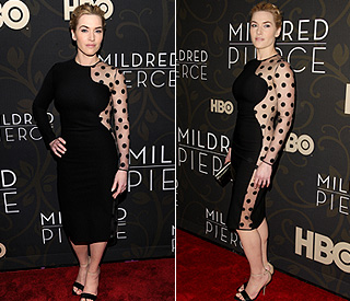 Kate Winslet works her killer curves in the Big Apple