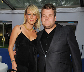 Baby joy: James Corden and fiancée welcome little boy