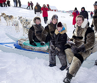 Princess Marie and step-sons have snowy adventure