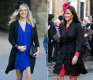 Chelsy Davy and Pippa Middleton - wedding style