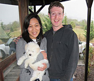 Facebook founder Mark Zuckerberg: 'In a relationship'