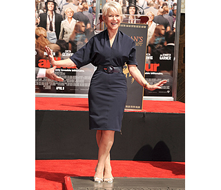 Helen Mirren makes her (stiletto) mark in Hollywood