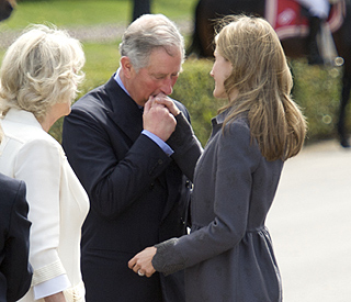 Chivalrous Prince Charles charms Spanish princess
