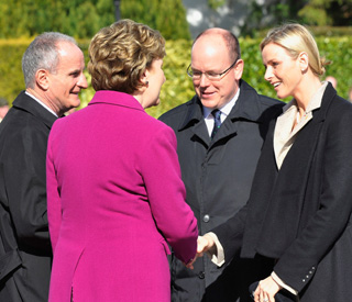Prince Albert and Charlene on official Irish state visit