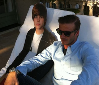 Bieber Fever sweeps the Beckham family