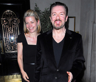 Newly slimmed-down Ricky Gervais' Hollywood dinner