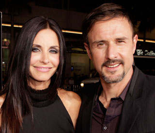 Courteney and David put split to one side for 'Scream'