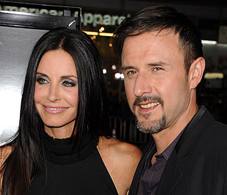 On-air counselling for Courteney Cox and David