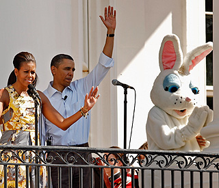 Annual Easter 'eggs-travaganza' in the Obama backyard