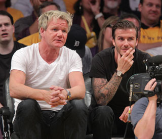Becks celebrates birthday with Gordon Ramsay