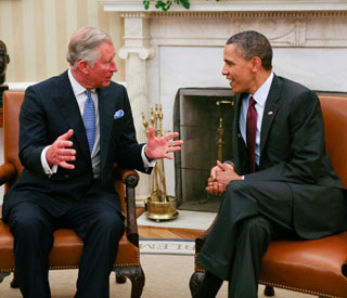 Barack Obama discusses royal wedding with Charles