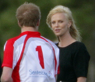 Prince Harry chats with blonde bombshell at polo