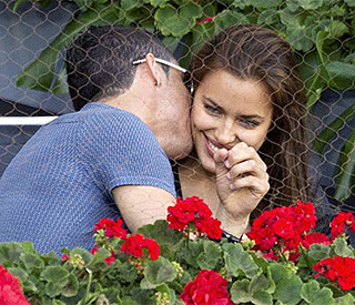 Love match for Cristiano Ronaldo and Irina at tennis