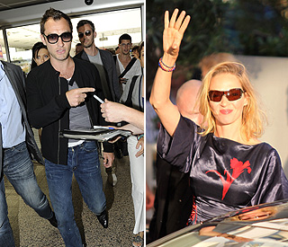 Jude Law and Uma Thurman lead film fest arrivals