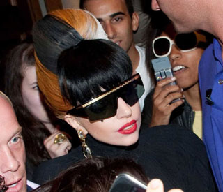 Lady Gaga showcases multicoloured beehive