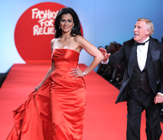 Bruce Forsyth brings the house down at Naomi's show