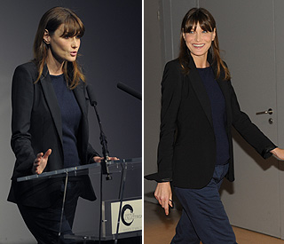 First good look at Carla Bruni's baby bump