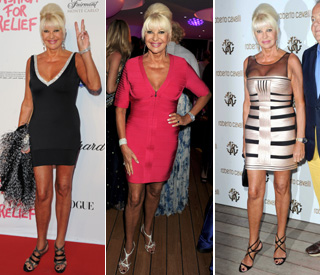 Ivana Trump makes impact with daring mini-dresses