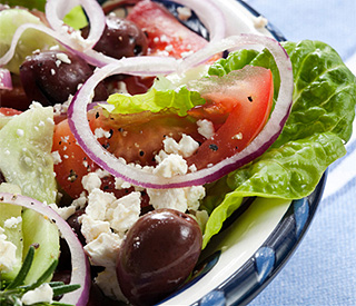 Recipe: Yianni's tasty Greek salad
