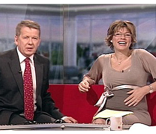 Kate Silverton shows off 'miracle' baby bump