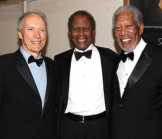 A-list pals gather to honour Morgan Freeman