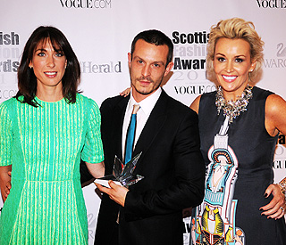 Samantha Cameron glows in green at fashion awards