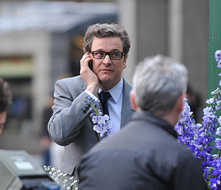 Colin Firth goes unnoticed in central London