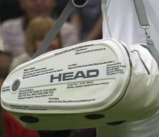 Andy Murray has bags of support at Wimbledon