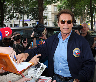 Arnold Schwarzenegger reconnects with the fatherland