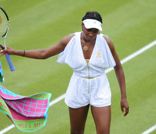 Venus dressed to impress for Wimbledon debut