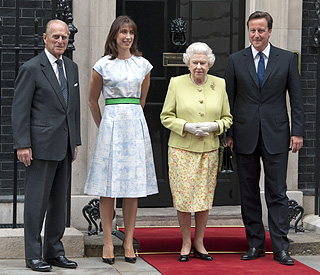 Prince Philip visits Downing Street for birthday lunch