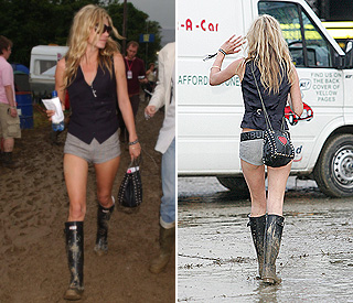 Best ever festival fashion: Kate's Glastonbury wellies