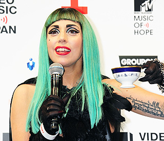 Gaga shows her support for 'beautiful' Japan