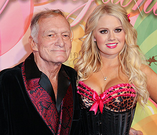 Hugh Hefner moves on from Crystal with new girls
