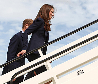 Excitement as William and Kate set out for Canada