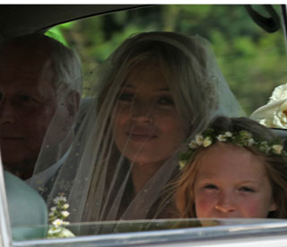 Kate Moss looks radiant en-route to her wedding